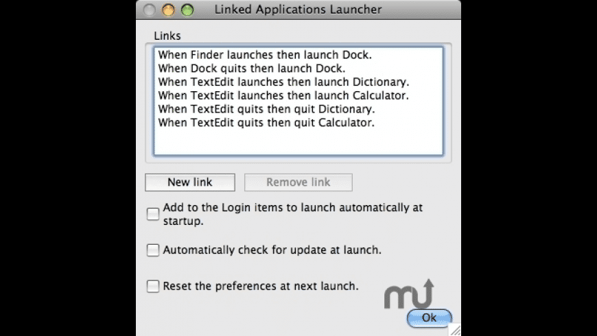 Linked Applications Launcher for Mac - review, screenshots
