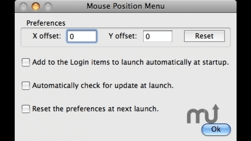 Mouse Position Menu for Mac - review, screenshots