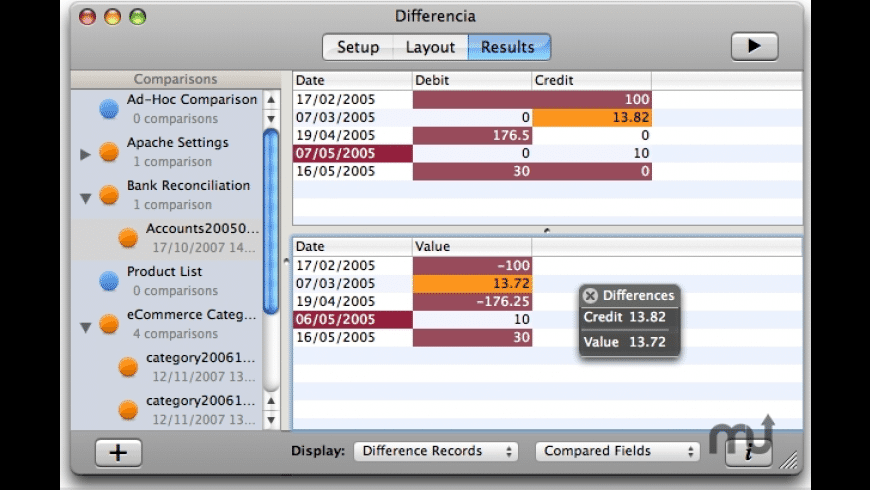 Differencia for Mac - review, screenshots