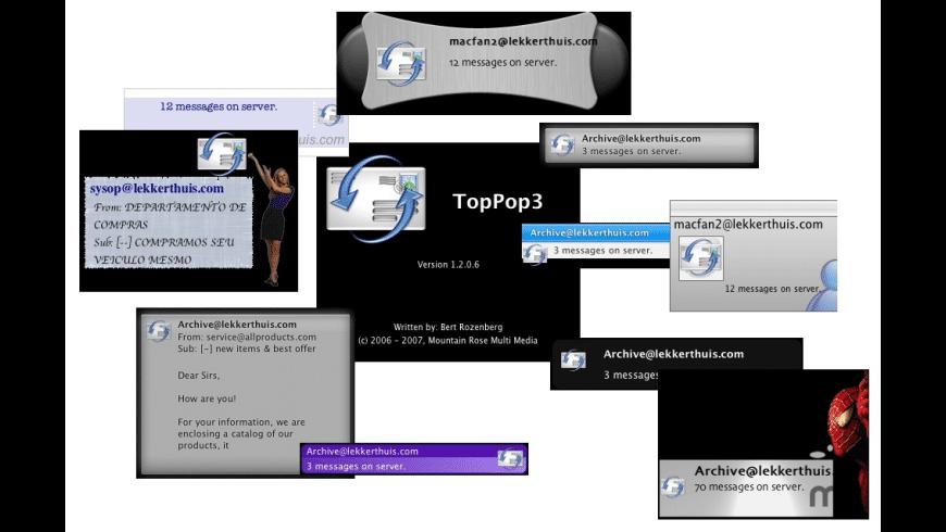 TopPop3 for Mac - review, screenshots