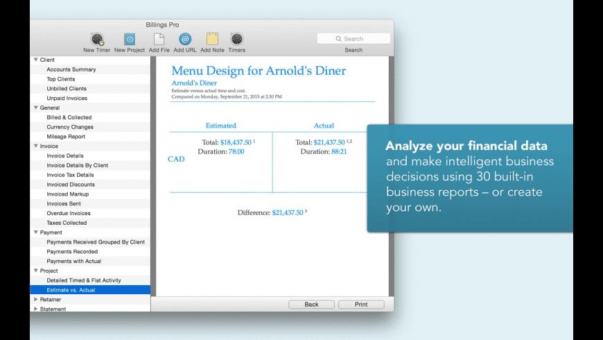 Billings Pro for Mac - review, screenshots