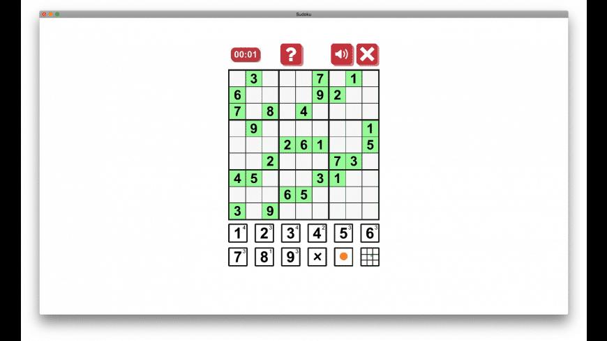Sudoku Origin for Mac - review, screenshots