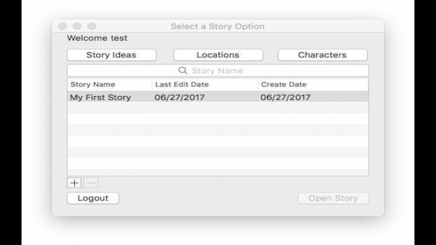 StoryWriting for Mac - review, screenshots