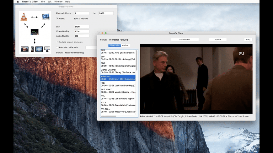finessTV Client for Mac - review, screenshots