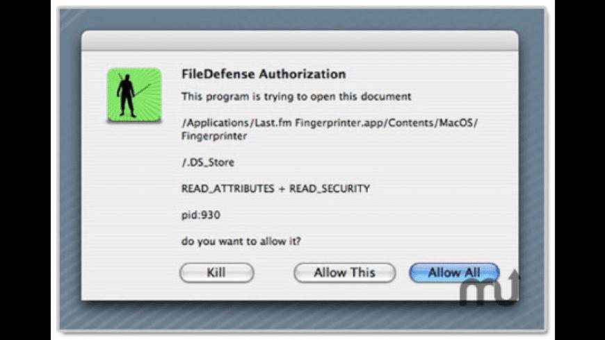 FileDefense for Mac - review, screenshots