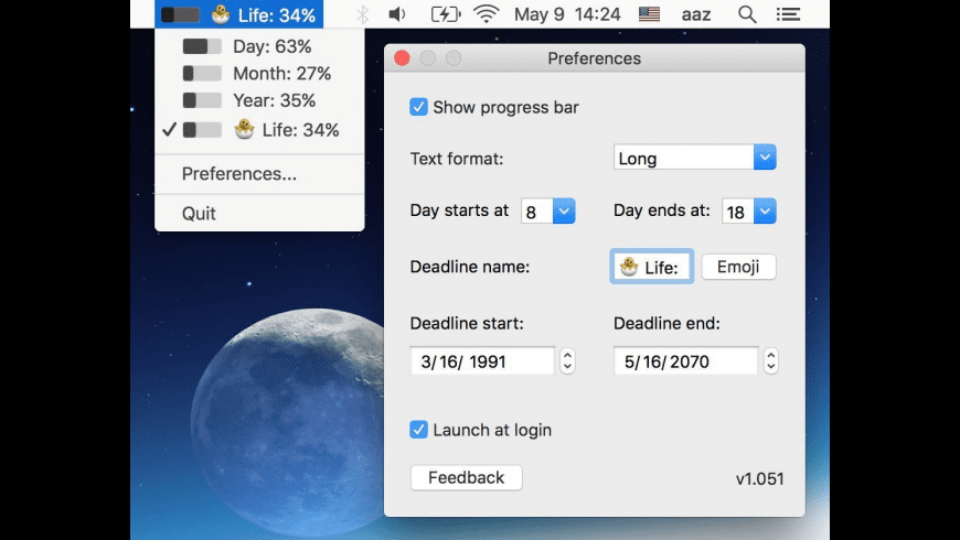 Progress Bar OSX for Mac - review, screenshots