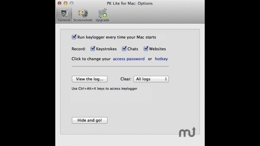 Perfect Keylogger Lite for Mac - review, screenshots