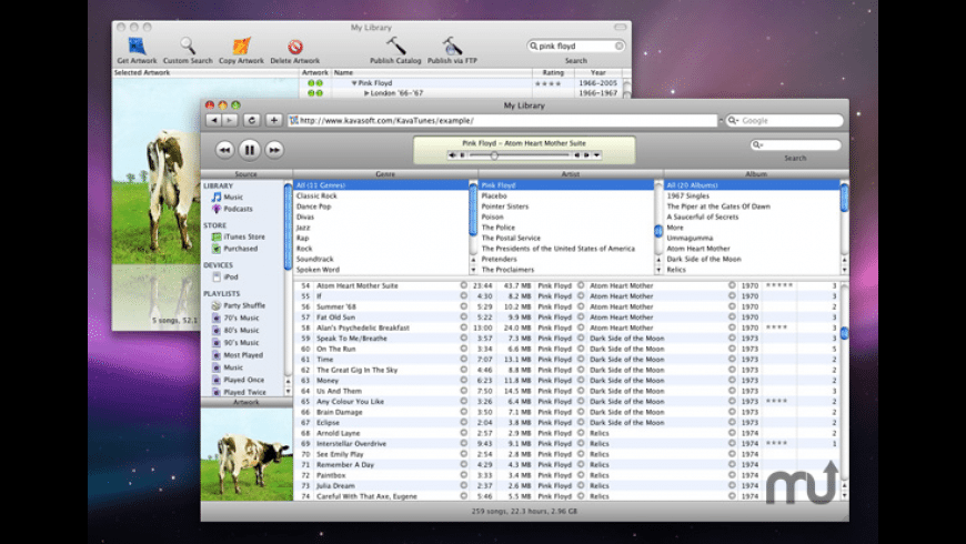 KavaTunes for Mac - review, screenshots