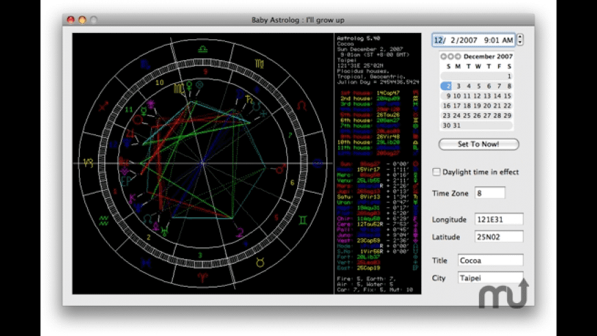 AstrologX for Mac - review, screenshots