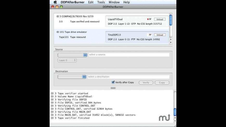 DDPAfterBurner for Mac - review, screenshots