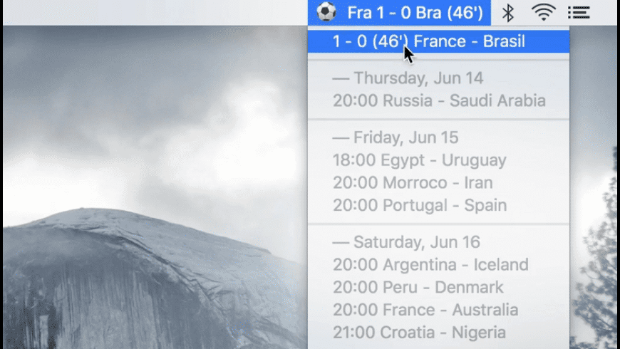 Livescore OSX for Mac - review, screenshots