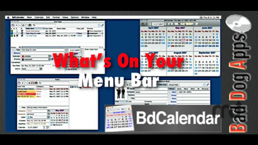BdCalendar for Mac - review, screenshots