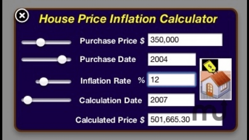 House Price Inflation Calculator for Mac - review, screenshots