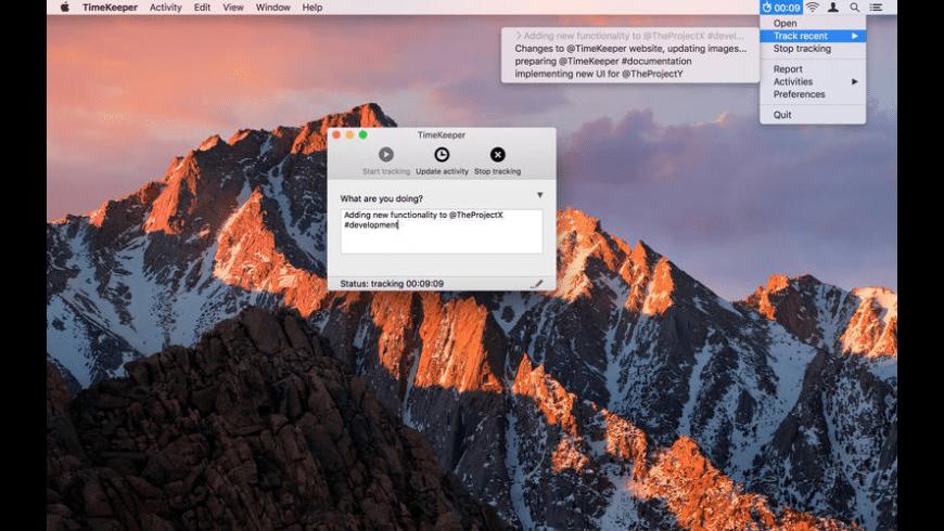TimeKeeper for Mac - review, screenshots