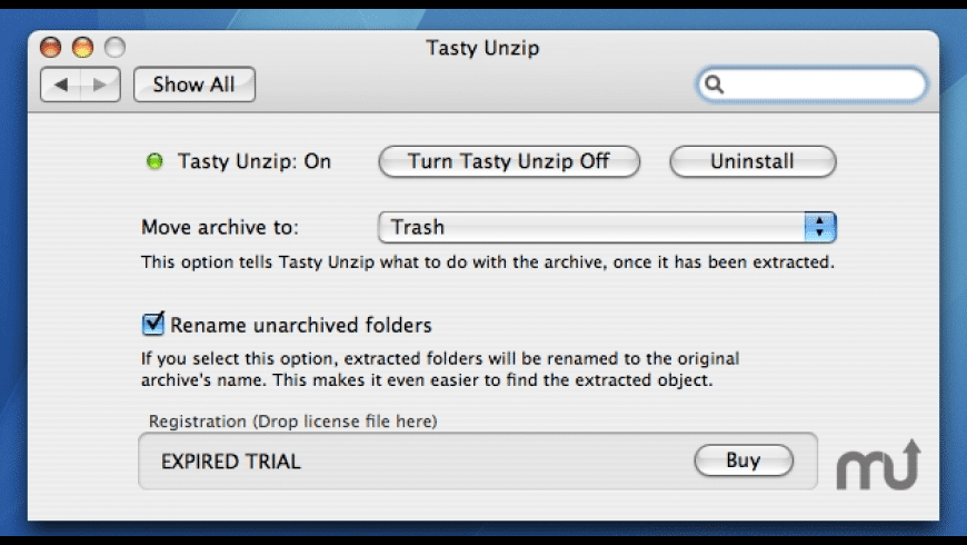 Tasty Unzip for Mac - review, screenshots