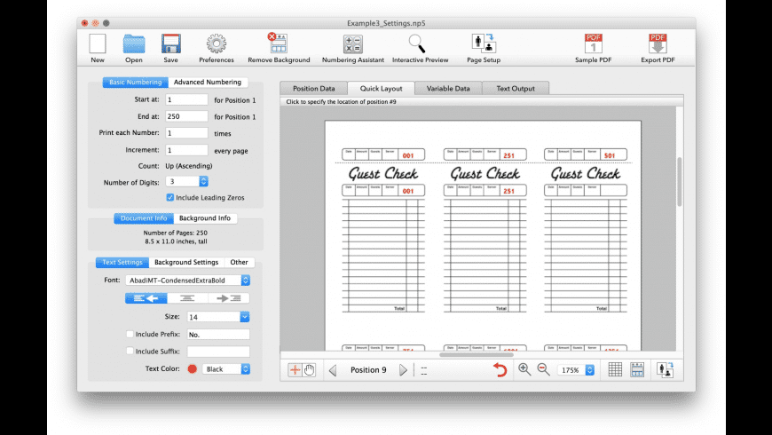 Number Press for Mac - review, screenshots