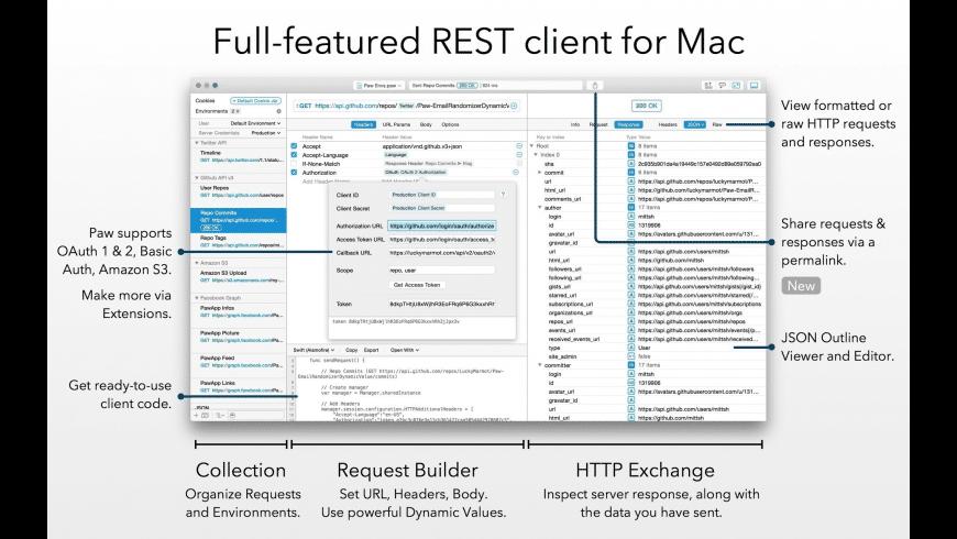 Paw for Mac - review, screenshots