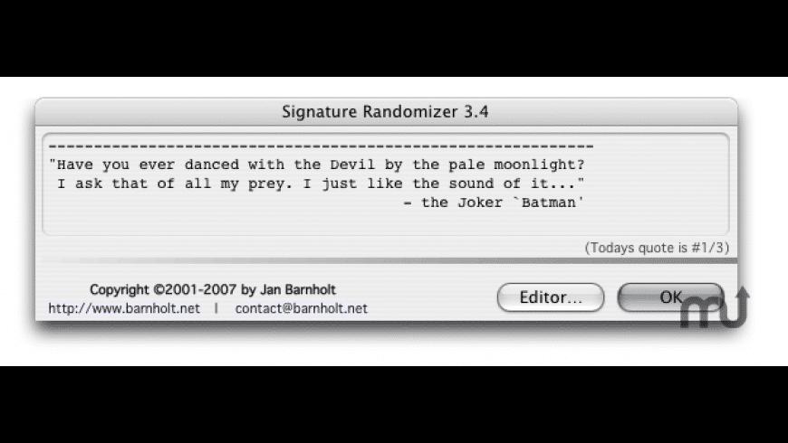 Signature Randomizer for Mac - review, screenshots