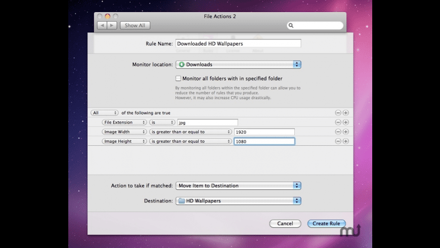 File Actions for Mac - review, screenshots