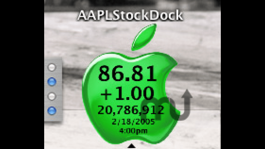 AAPL Stock Dock for Mac - review, screenshots