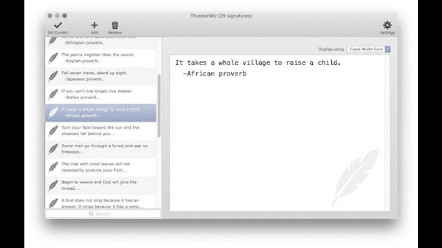 ThunderWiz for Mac - review, screenshots