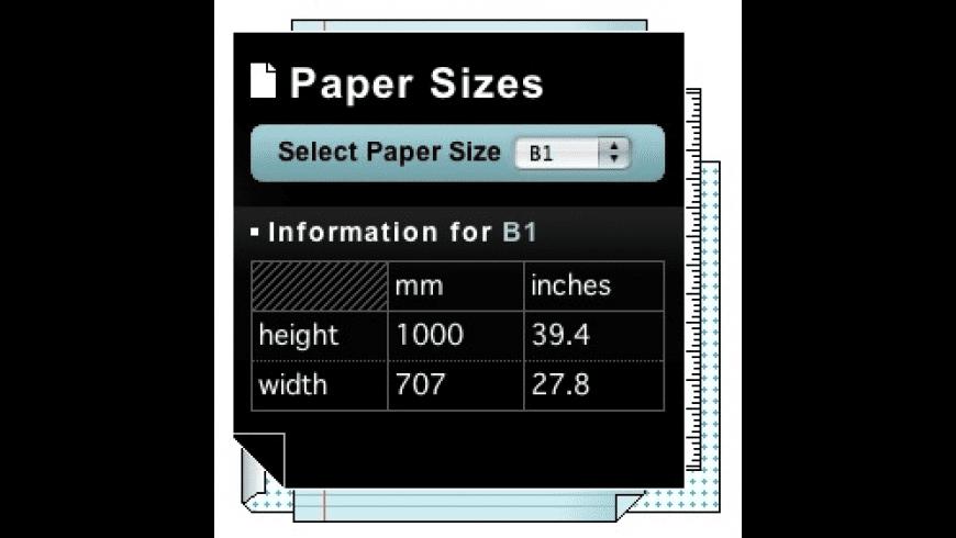 PaperSizes for Mac - review, screenshots
