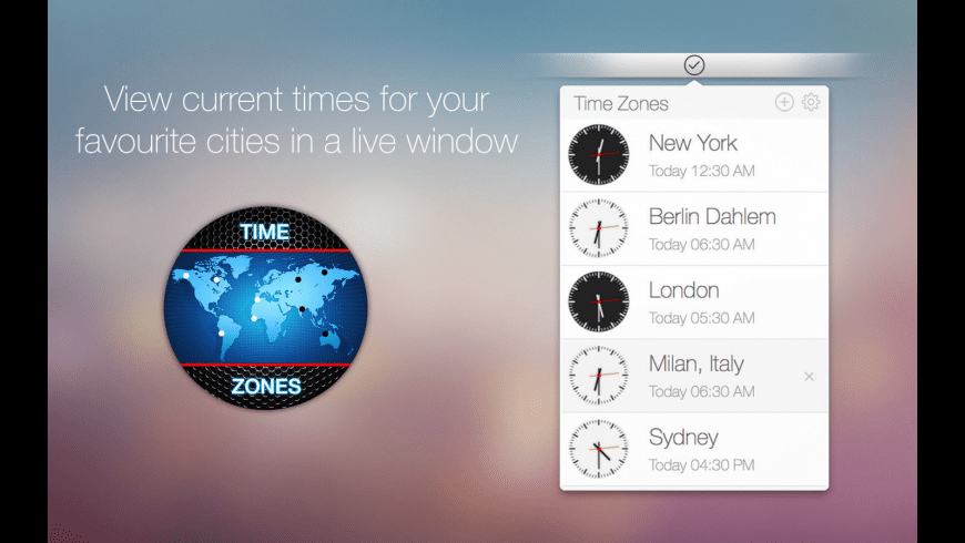 Time Zones for Mac - review, screenshots