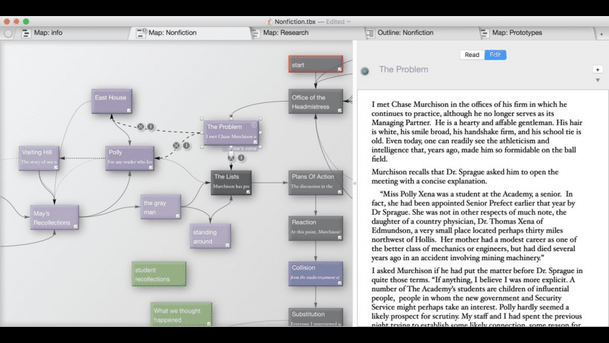 Storyspace for Mac - review, screenshots