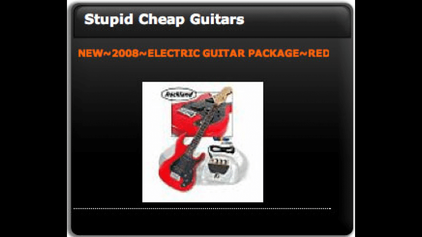 Stupid Cheap Guitars Deal of the Day Widget for Mac - review, screenshots