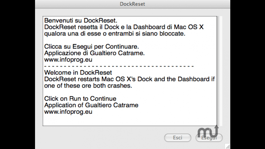 DockReset for Mac - review, screenshots