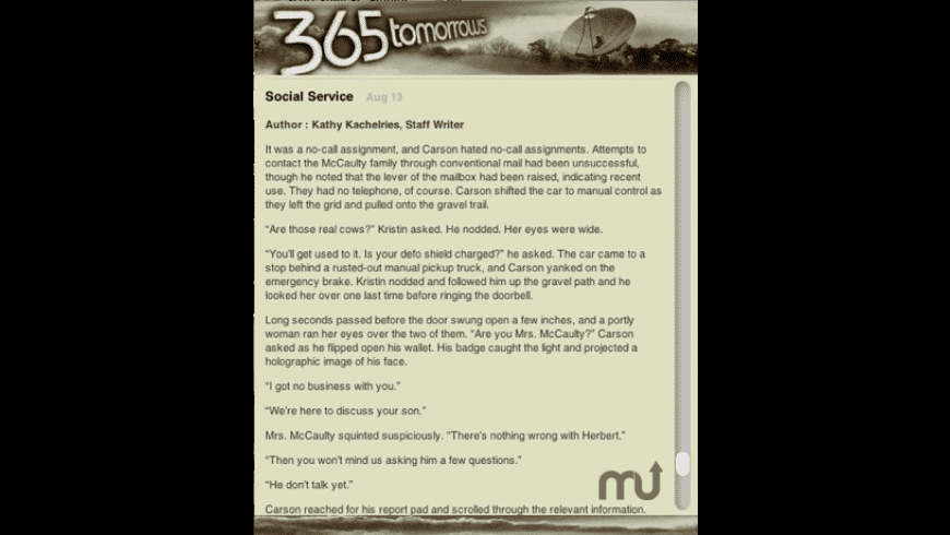 365tomorrows RSS reader for Mac - review, screenshots