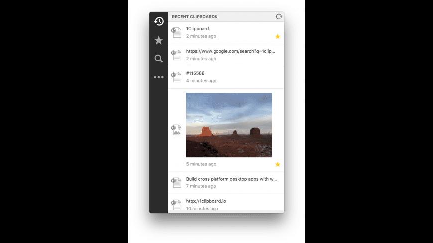 1clipboard for Mac - review, screenshots