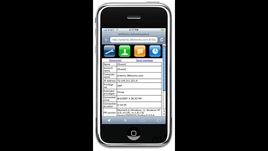 360Works AdminAnywhere for Mac - review, screenshots
