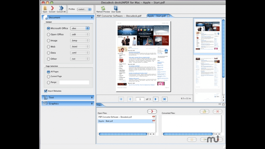 deskUNPDF for Mac - review, screenshots