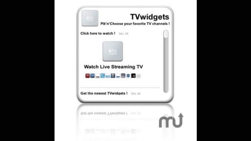 TVwidgets for Mac - review, screenshots