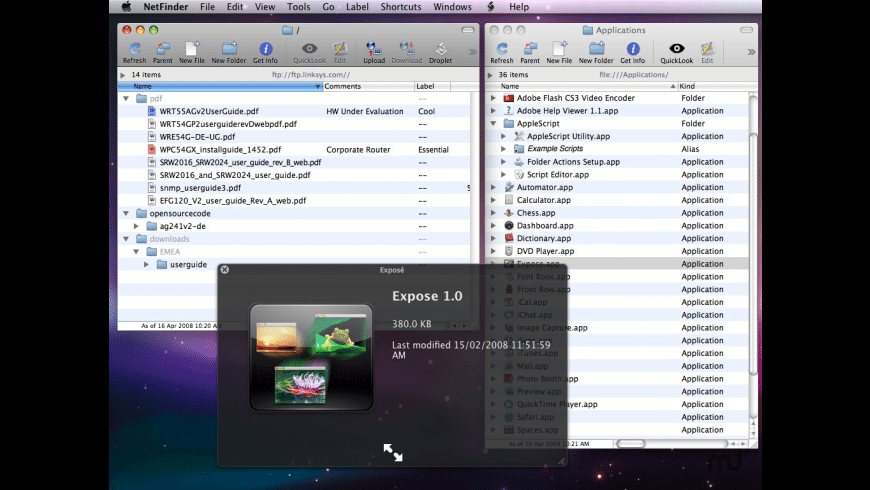 NetFinder for Mac - review, screenshots