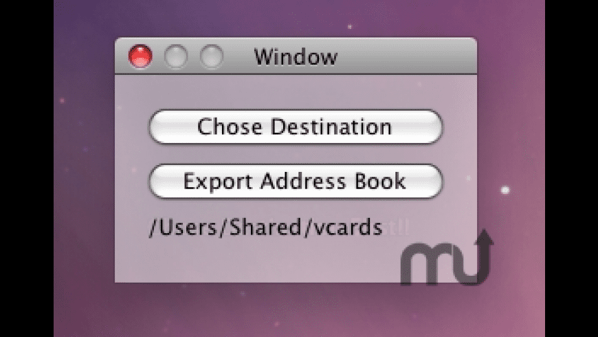 VCard Exporter for Mac - review, screenshots