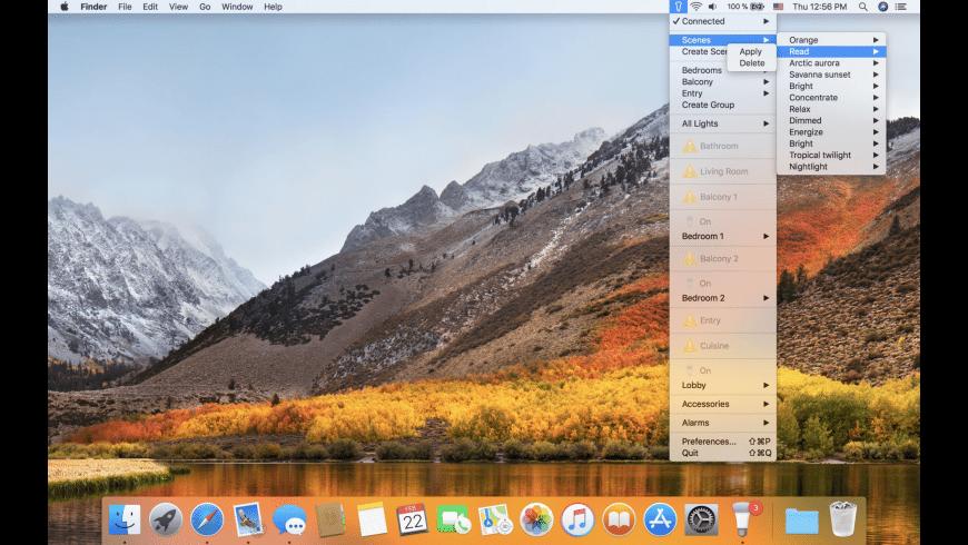 Hue Menu for the Philips Hue for Mac - review, screenshots