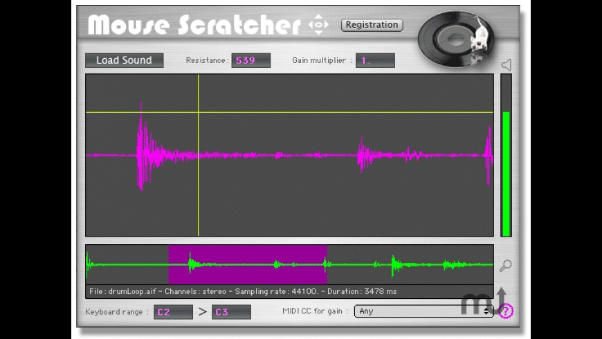MouseScratcher for Mac - review, screenshots