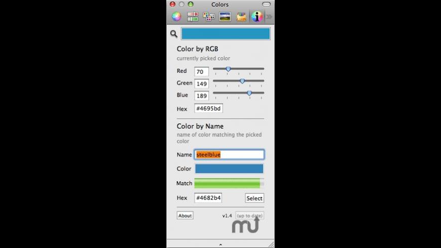 ColorNamePicker for Mac - review, screenshots