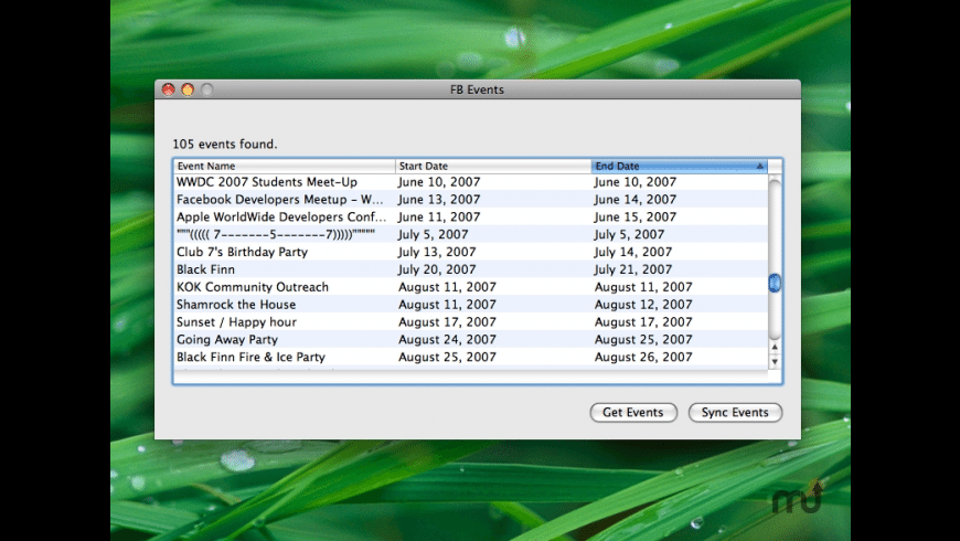 EventSync for Mac - review, screenshots
