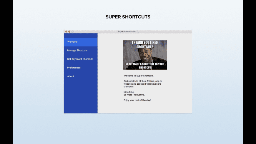 Super Shortcuts for Mac - review, screenshots