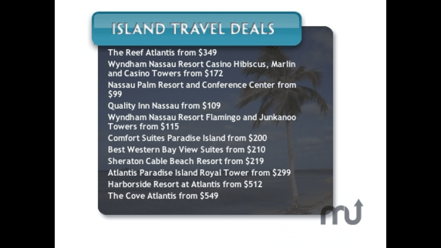 Island Travel Deals for Mac - review, screenshots