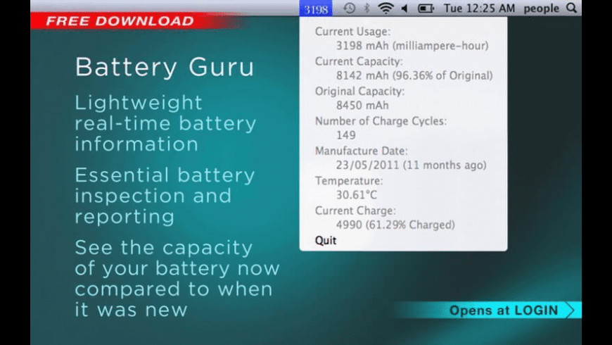 Battery Guru for Mac - review, screenshots