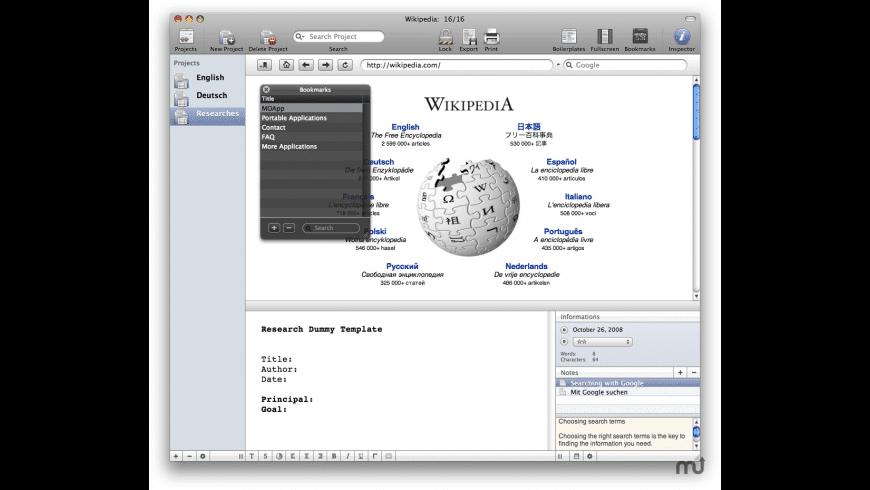 Recherche for Mac - review, screenshots