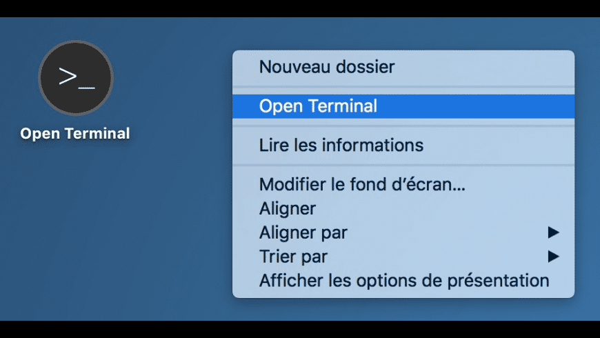 Open Terminal for Mac - review, screenshots
