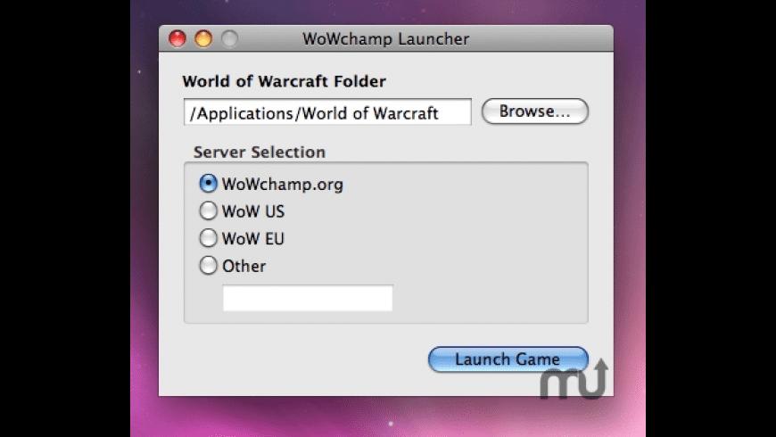 WoWchamp Launcher for Mac - review, screenshots