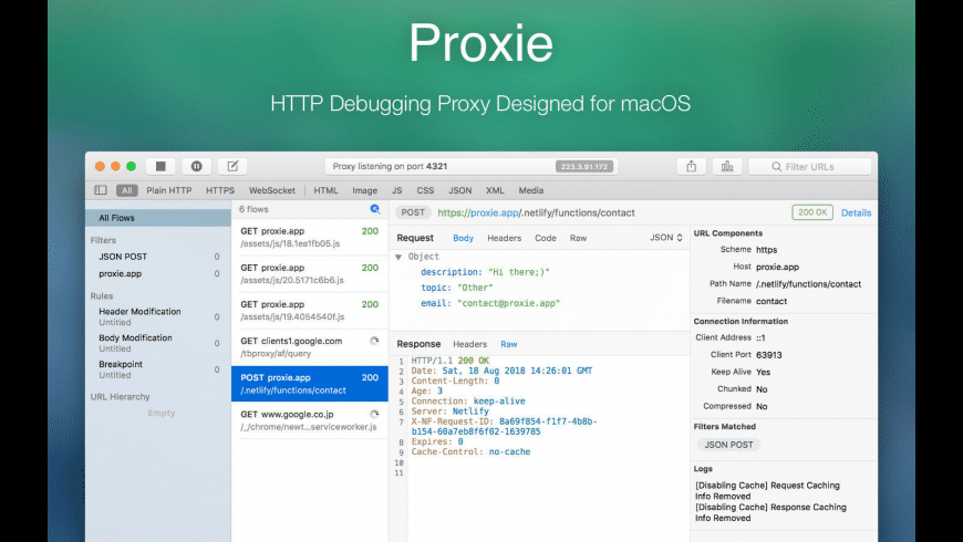 Proxie for Mac - review, screenshots