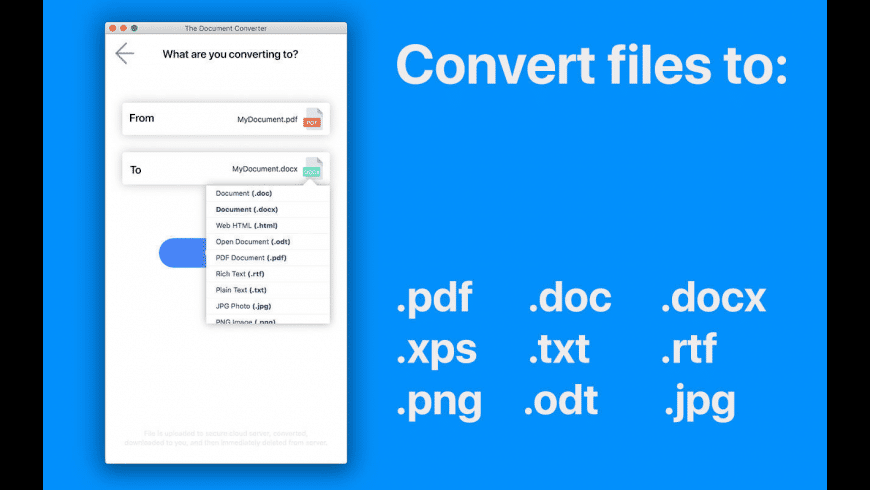 The Document Converter for Mac - review, screenshots