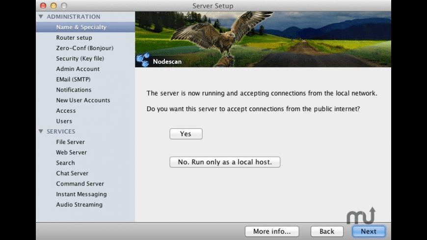 Nodescan Server for Mac - review, screenshots